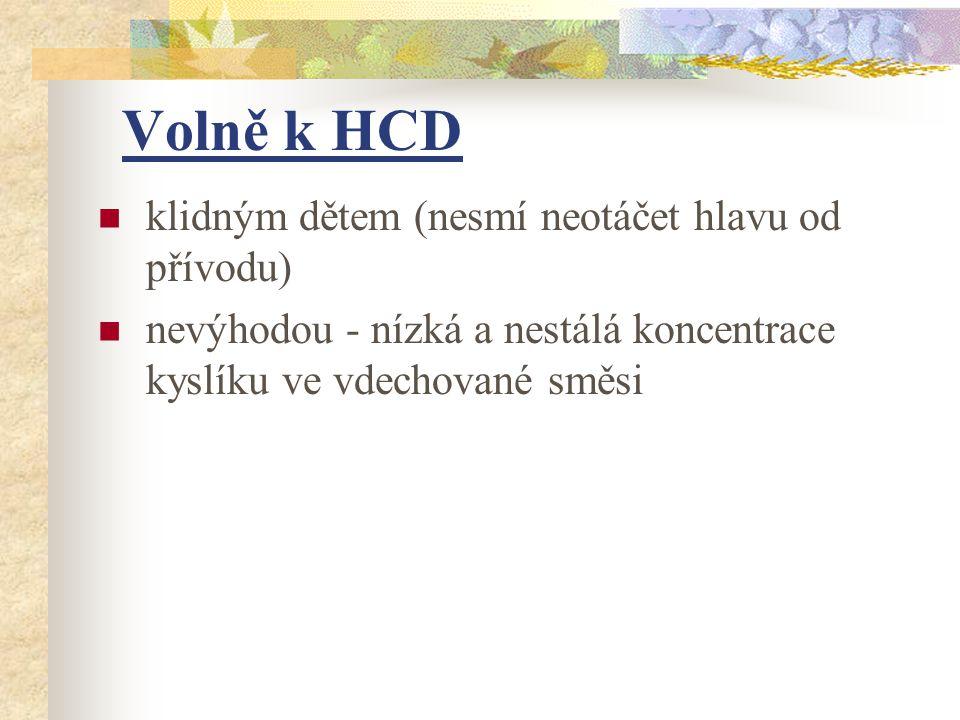 Volně k HCD klidným dětem (nesmí neotáčet hlavu od přívodu)
