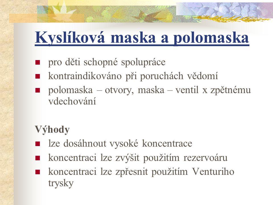 Kyslíková maska a polomaska