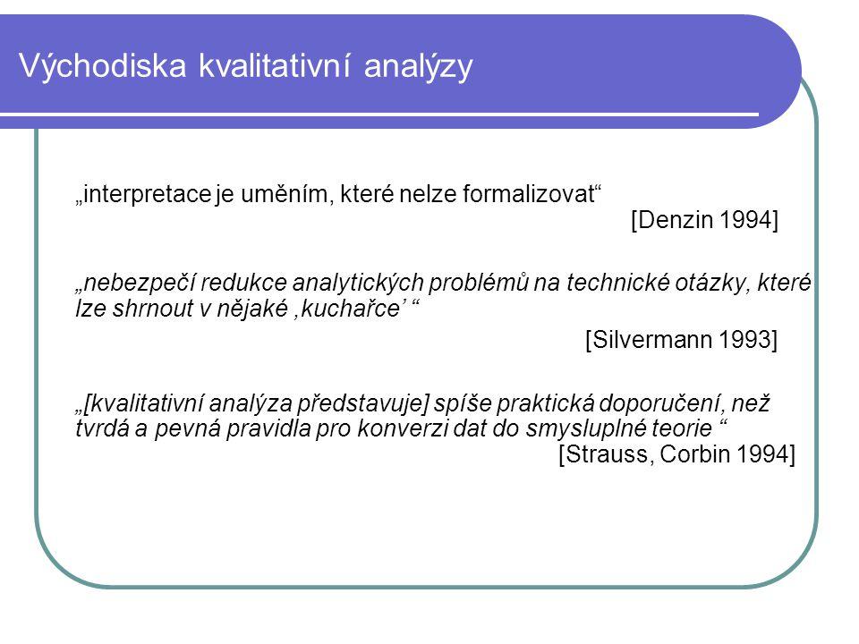 Východiska kvalitativní analýzy