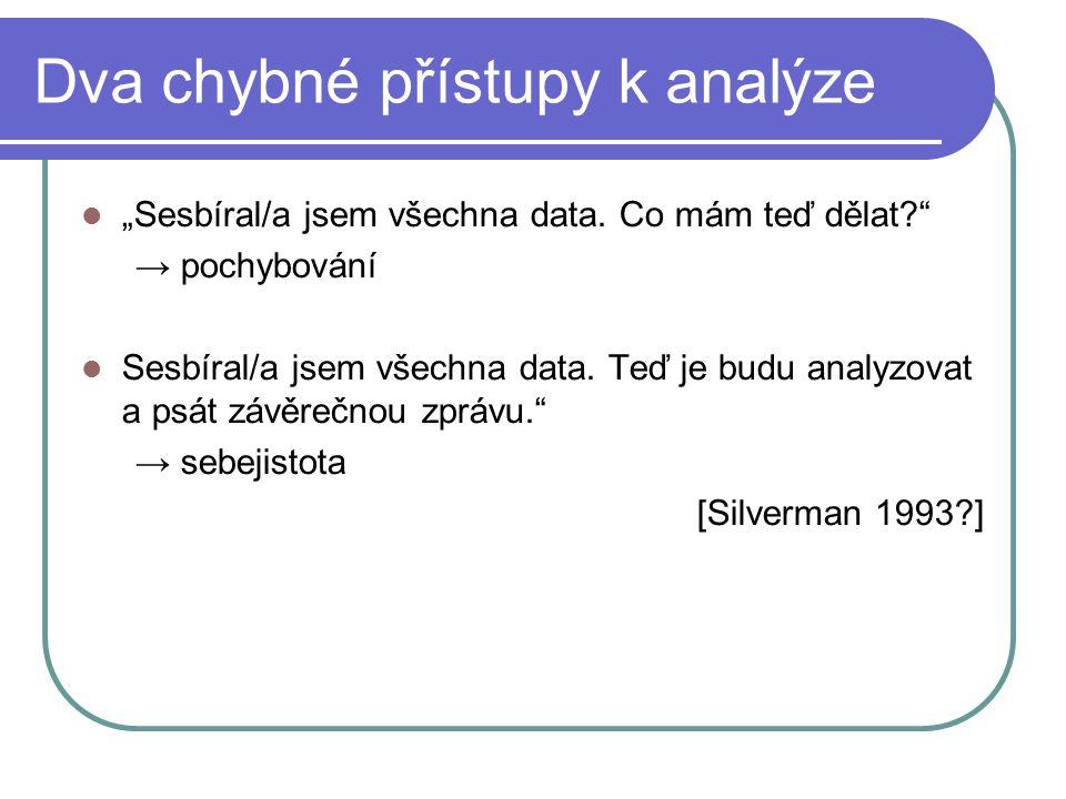 Dva chybné přístupy k analýze