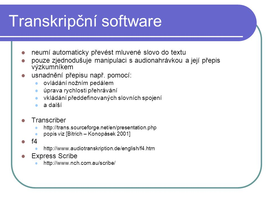 Transkripční software