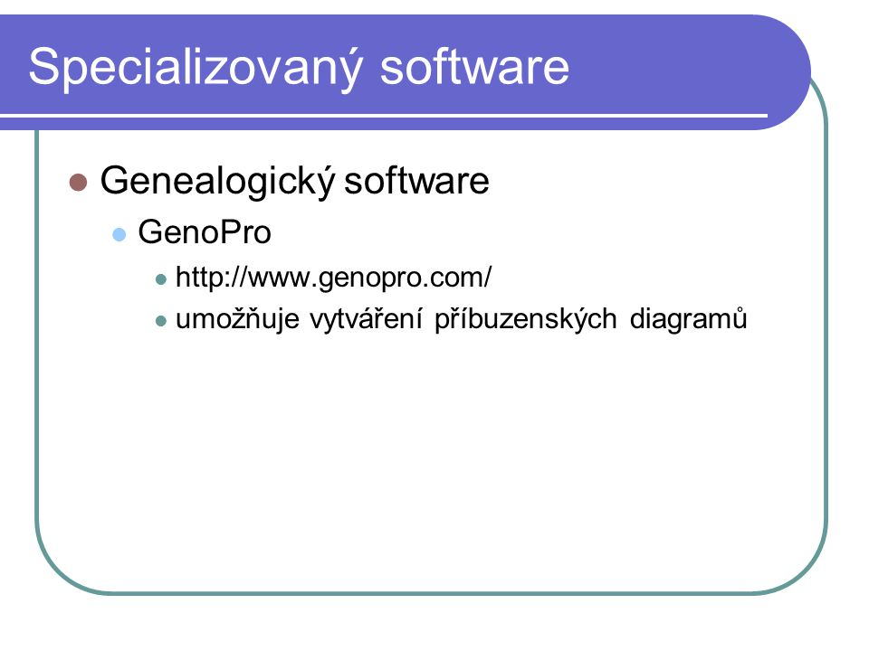 Specializovaný software