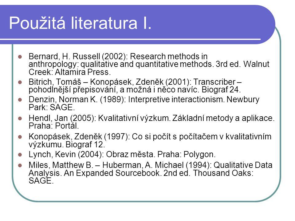 Použitá literatura I.