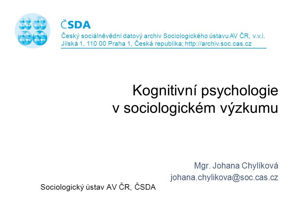 Kognitivní psychologie v sociologickém výzkumu
