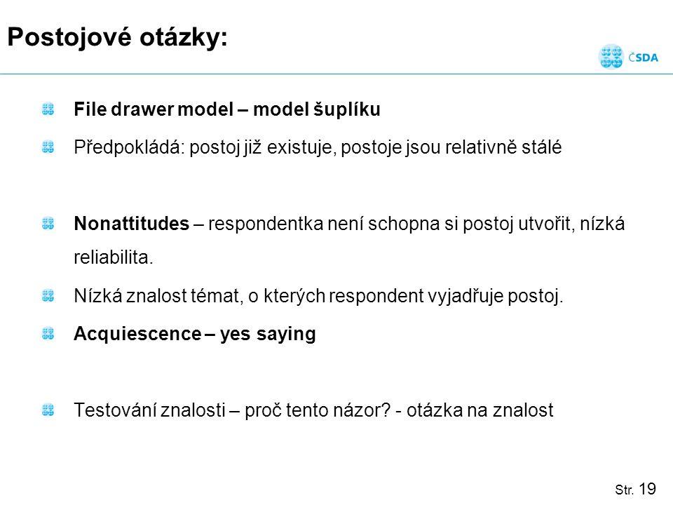 Postojové otázky: File drawer model – model šuplíku