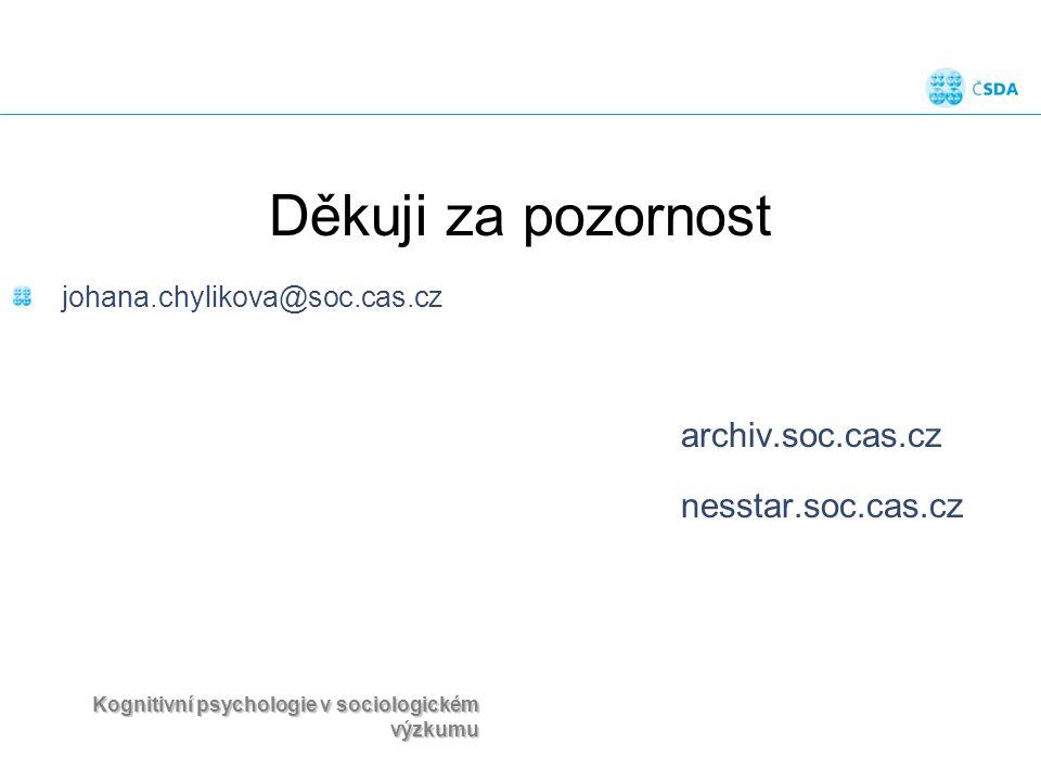 Děkuji za pozornost archiv.soc.cas.cz nesstar.soc.cas.cz