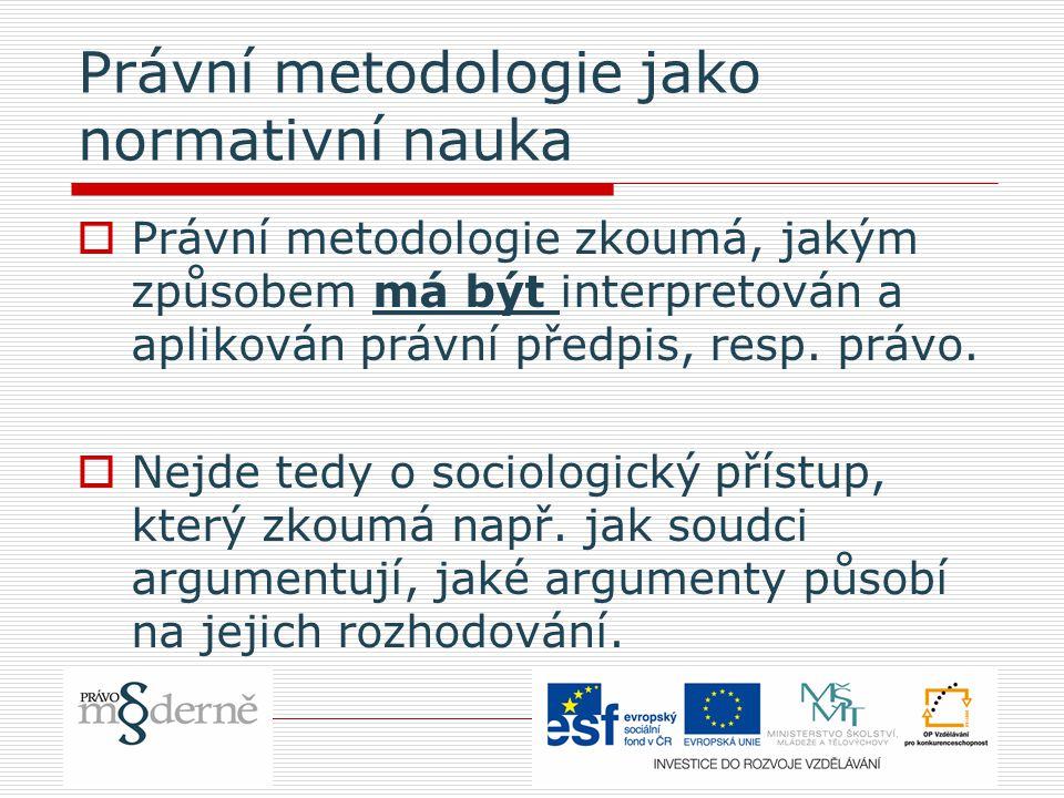 Právní metodologie jako normativní nauka