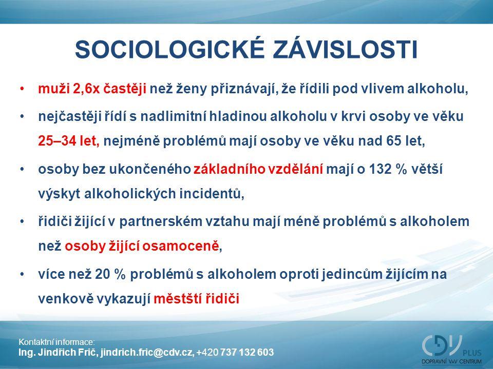 SOCIOLOGICKÉ ZÁVISLOSTI
