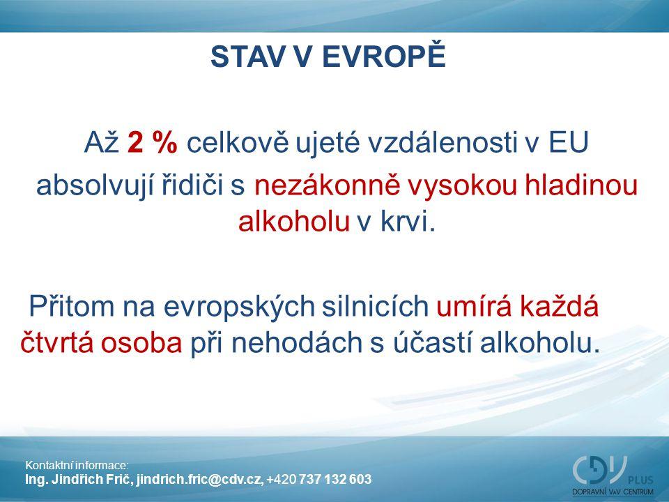 Až 2 % celkově ujeté vzdálenosti v EU