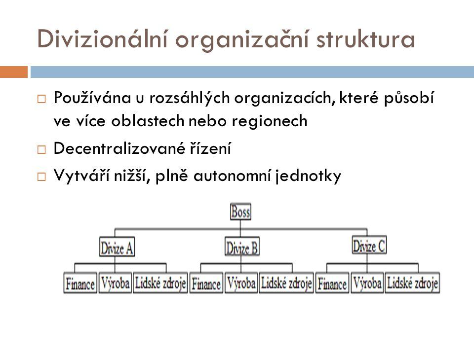 Divizionální organizační struktura