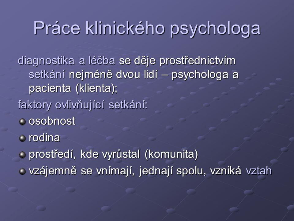 Práce klinického psychologa