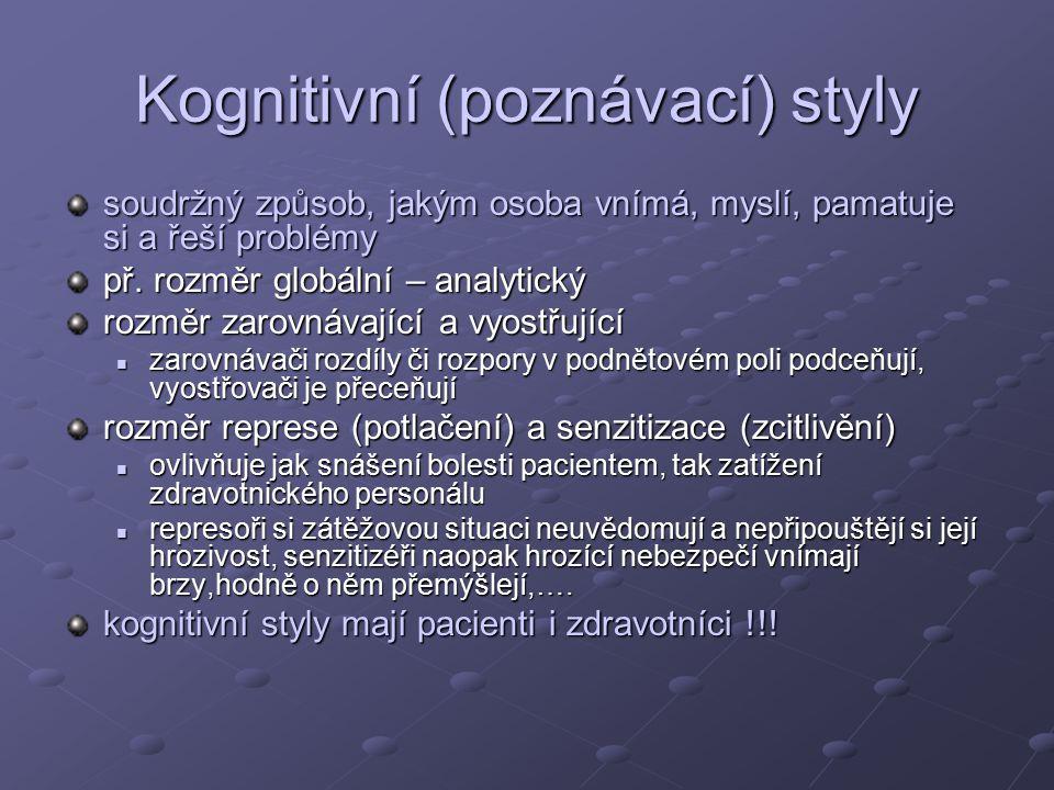 Kognitivní (poznávací) styly