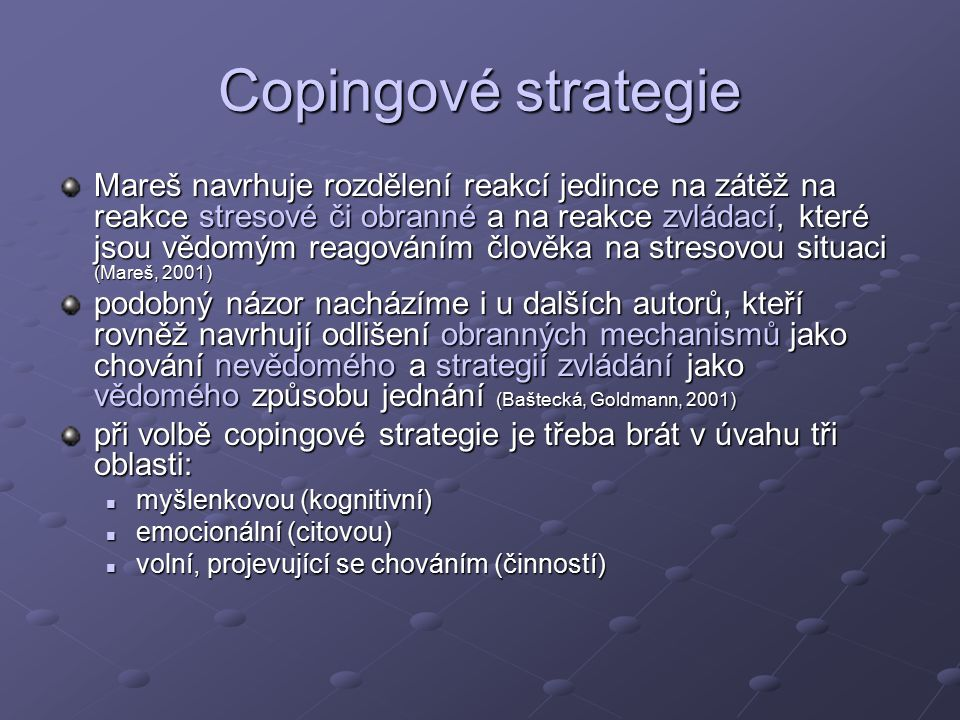 Copingové strategie