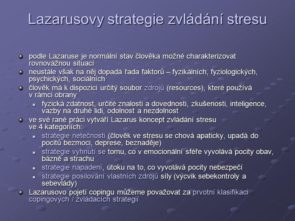 Lazarusovy strategie zvládání stresu