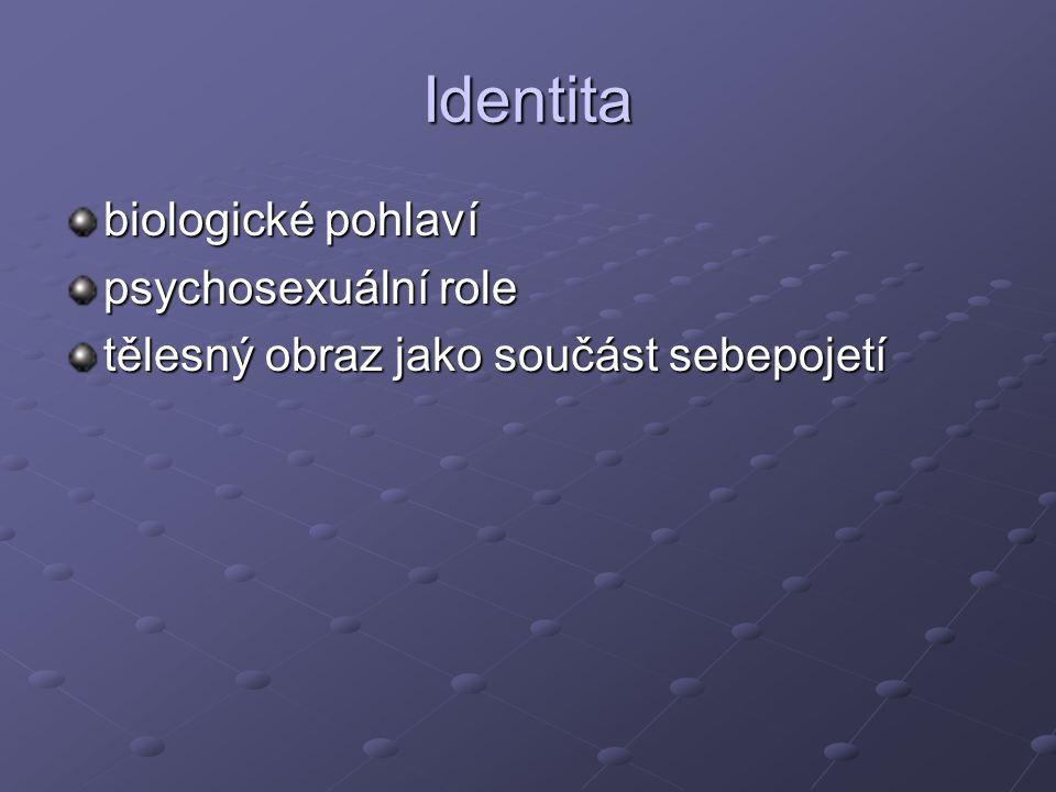 Identita biologické pohlaví psychosexuální role
