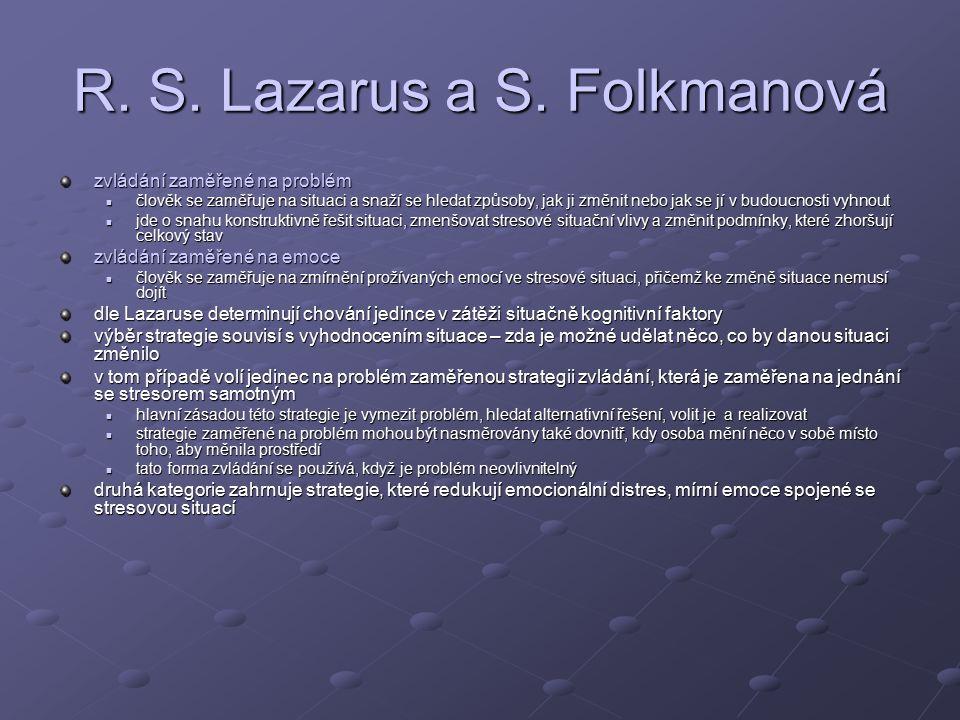 R. S. Lazarus a S. Folkmanová
