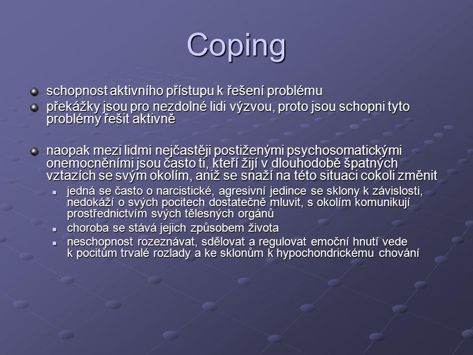 Coping schopnost aktivního přístupu k řešení problému