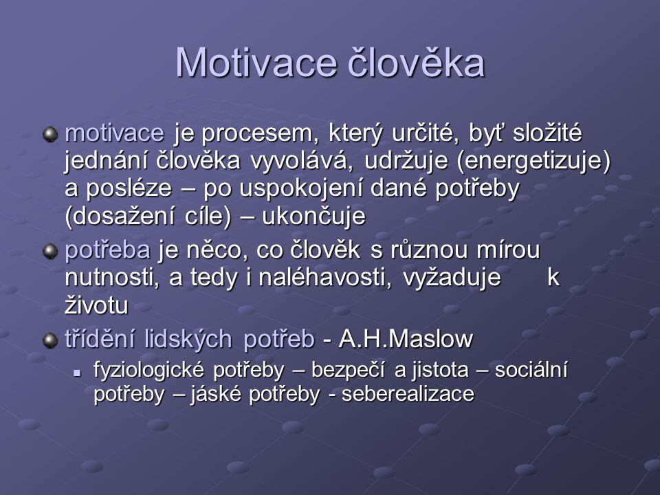 Motivace člověka