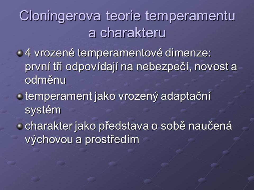 Cloningerova teorie temperamentu a charakteru