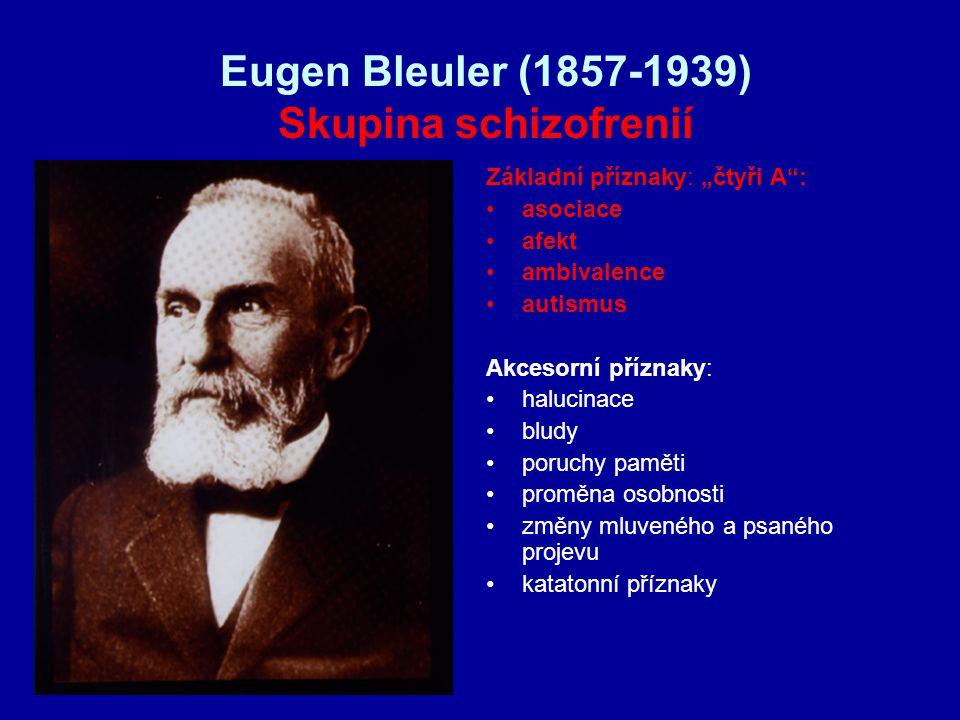 Eugen Bleuler (1857-1939) Skupina schizofrenií