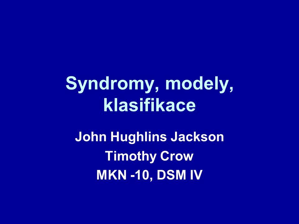 Syndromy, modely, klasifikace
