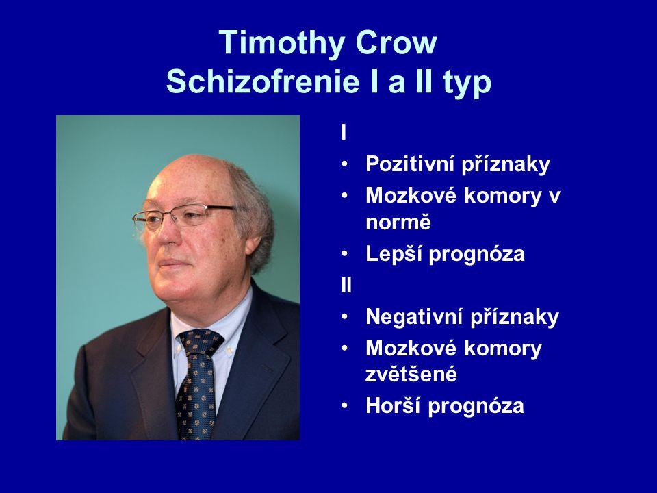 Timothy Crow Schizofrenie I a II typ
