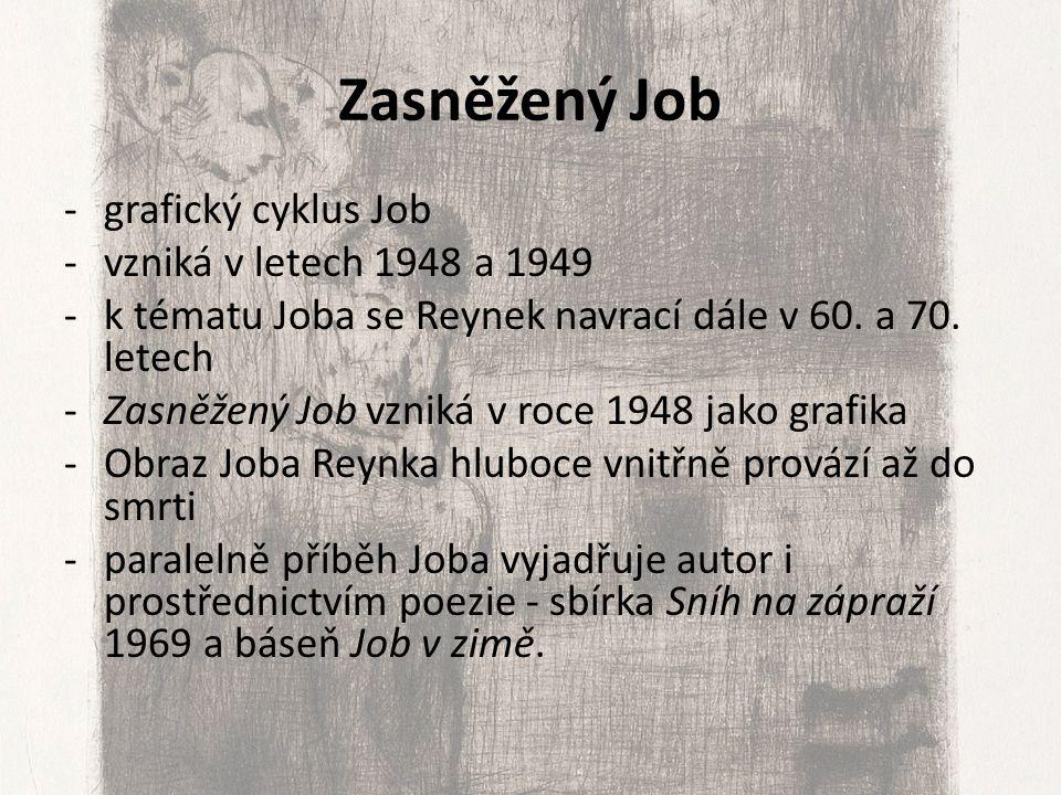 Zasněžený Job grafický cyklus Job vzniká v letech 1948 a 1949