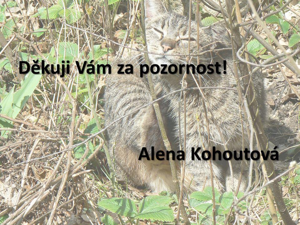 Děkuji Vám za pozornost! Alena Kohoutová