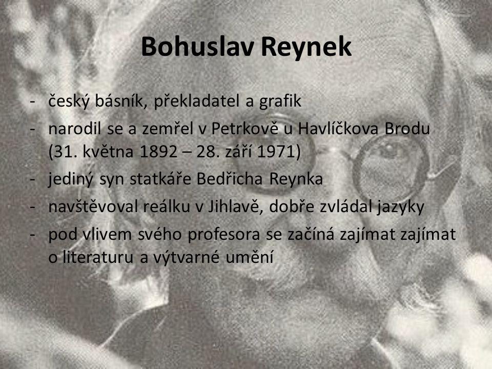 Bohuslav Reynek český básník, překladatel a grafik
