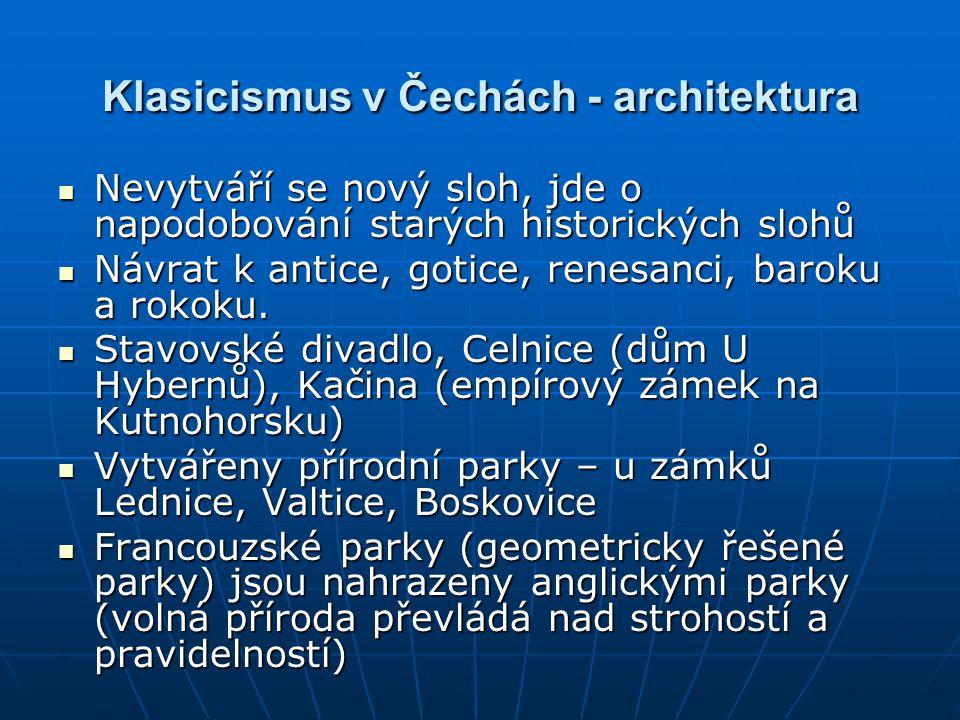 Klasicismus v Čechách - architektura