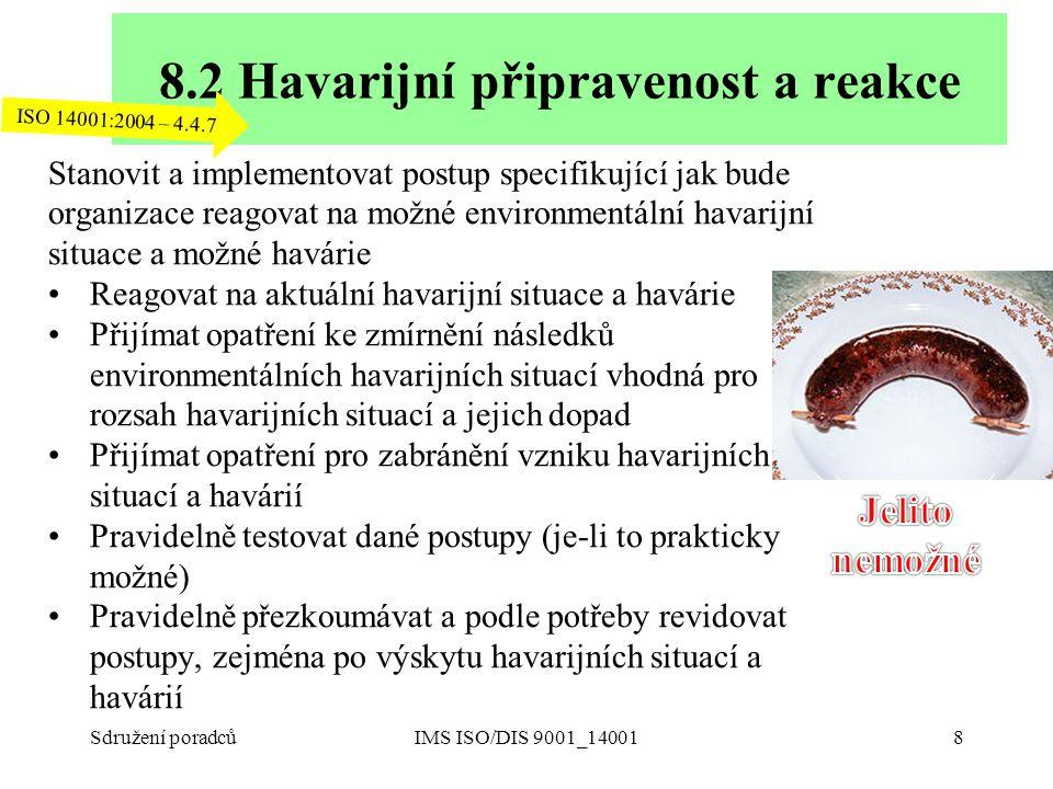 8.2 Havarijní připravenost a reakce