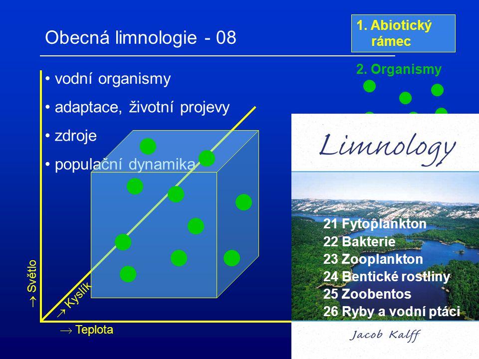 Obecná limnologie - 08 vodní organismy adaptace, životní projevy