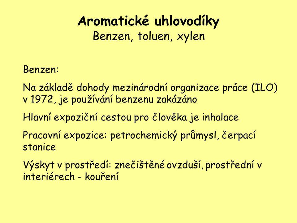 Aromatické uhlovodíky Benzen, toluen, xylen