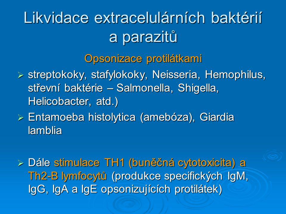 Likvidace extracelulárních baktérií a parazitů