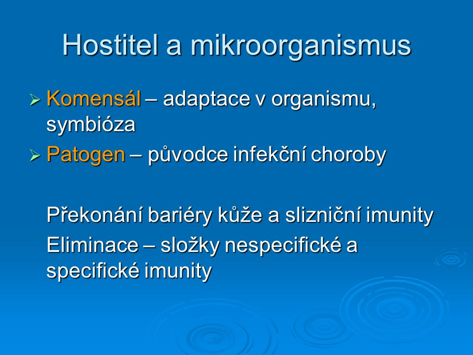 Hostitel a mikroorganismus