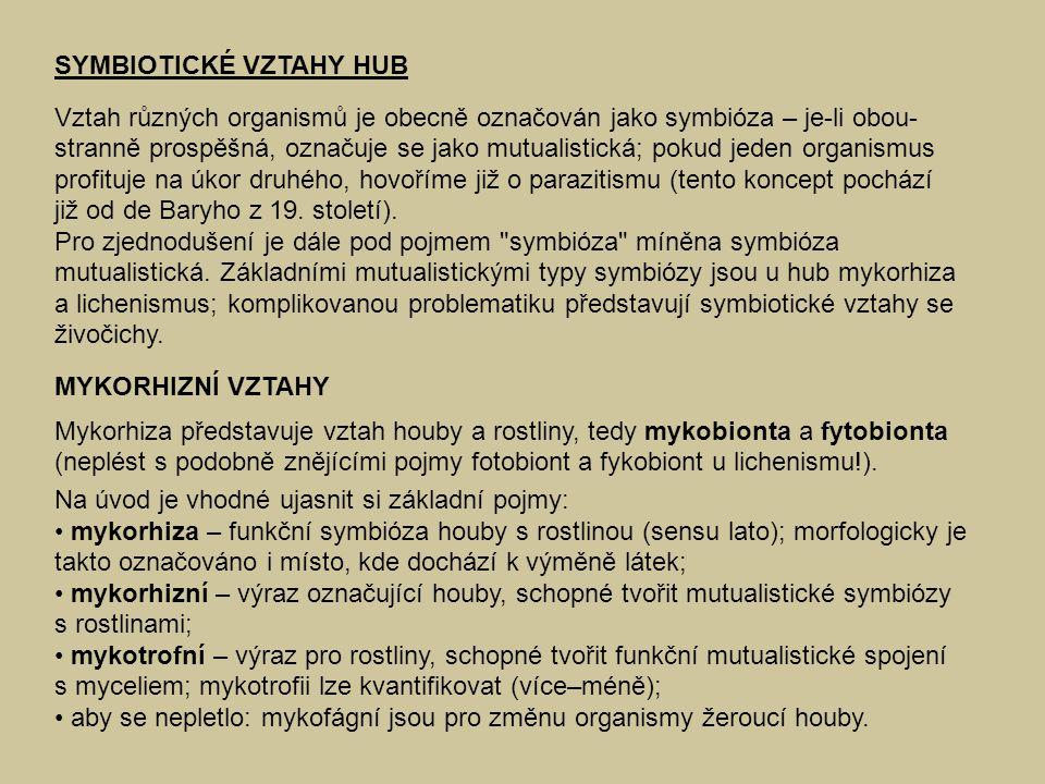 SYMBIOTICKÉ VZTAHY HUB