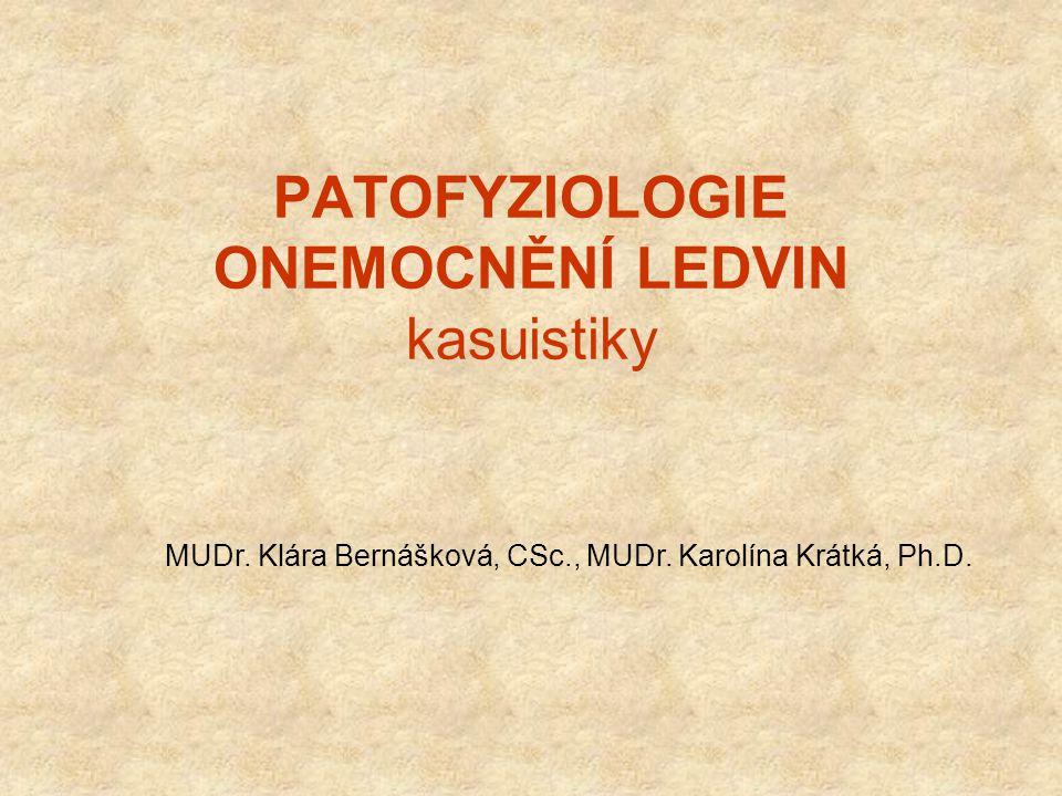 PATOFYZIOLOGIE ONEMOCNĚNÍ LEDVIN kasuistiky