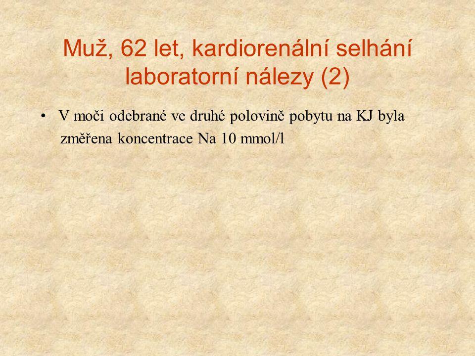 Muž, 62 let, kardiorenální selhání laboratorní nálezy (2)