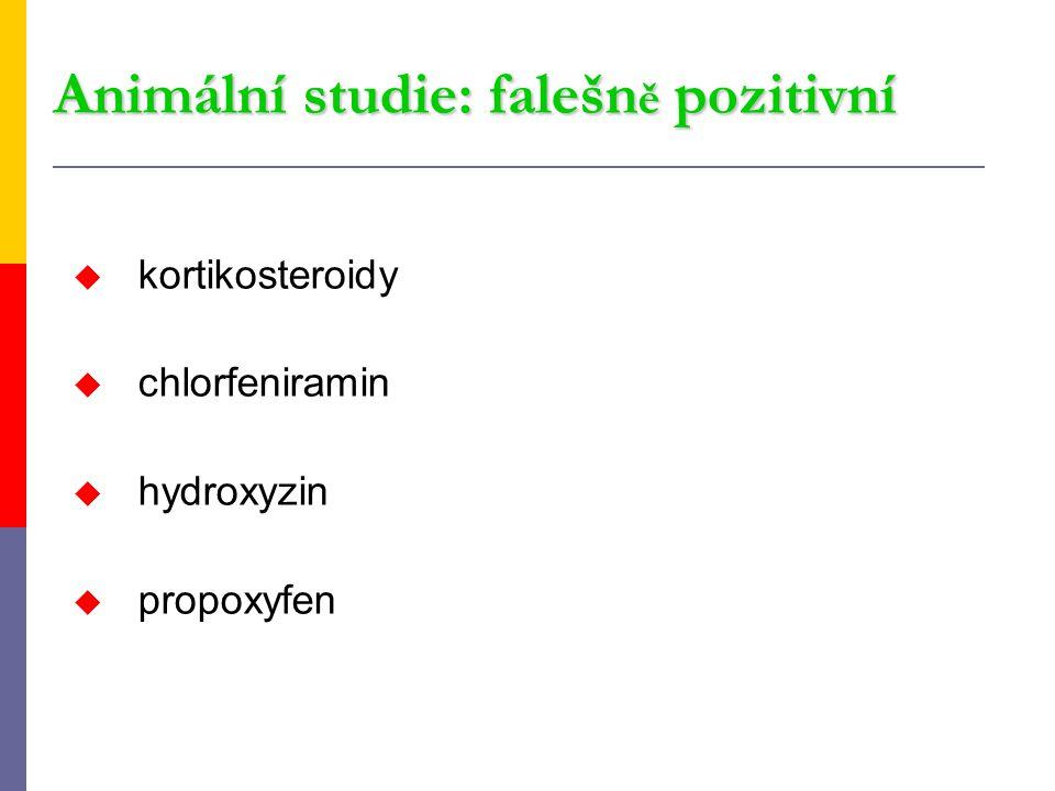 Animální studie: falešně pozitivní