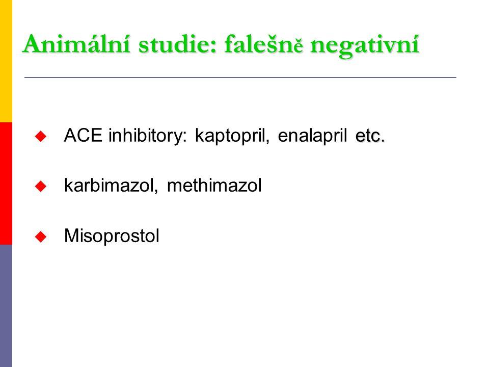 Animální studie: falešně negativní