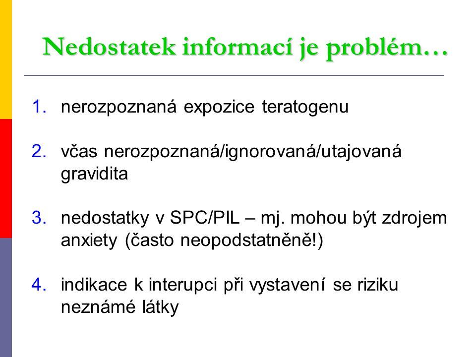 Nedostatek informací je problém…