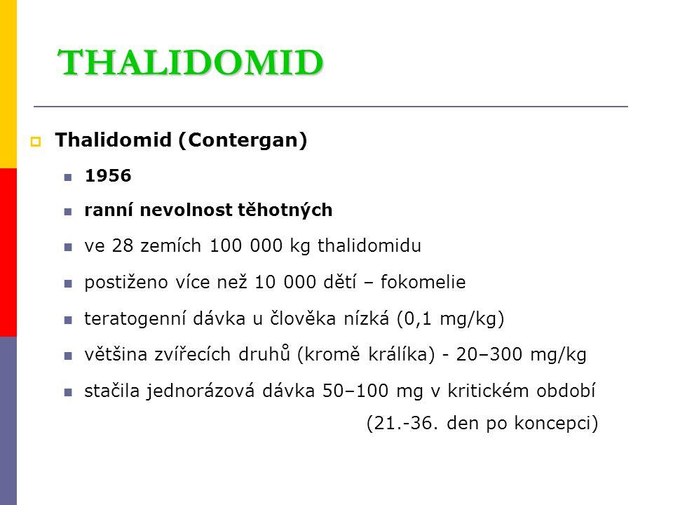 THALIDOMID Thalidomid (Contergan) ve 28 zemích 100 000 kg thalidomidu
