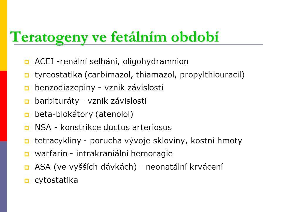 Teratogeny ve fetálním období
