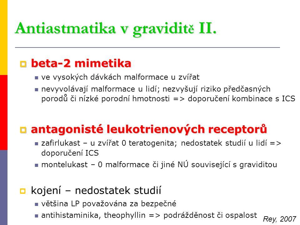 Antiastmatika v graviditě II.