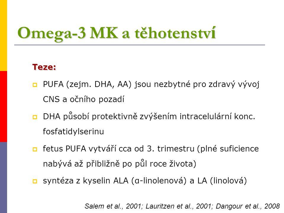 Omega-3 MK a těhotenství