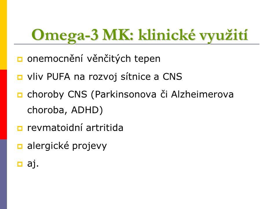 Omega-3 MK: klinické využití