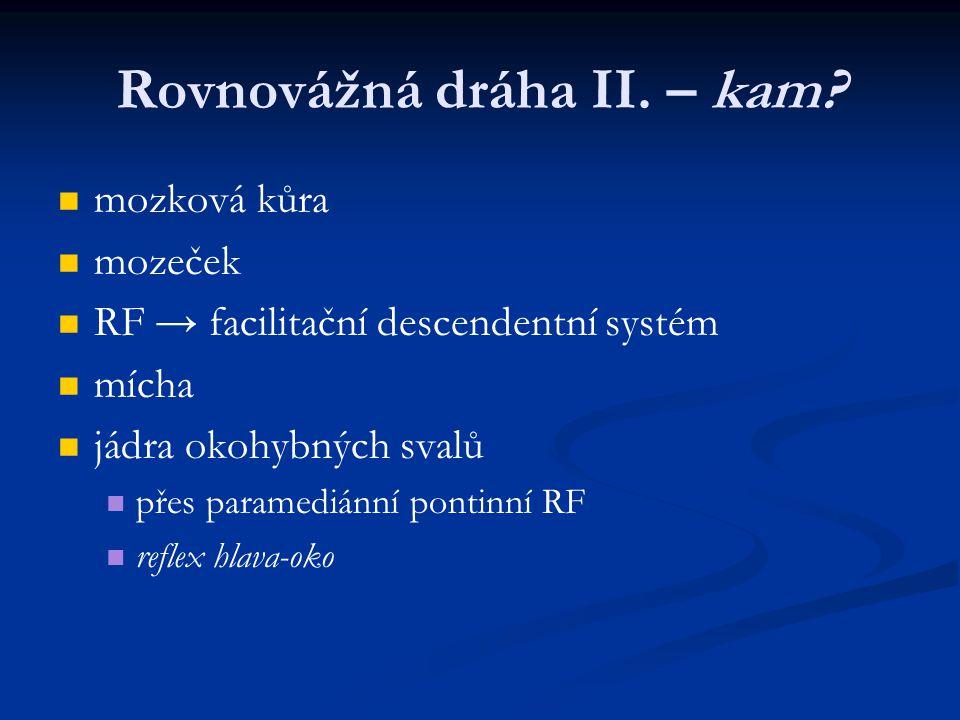 Rovnovážná dráha II. – kam