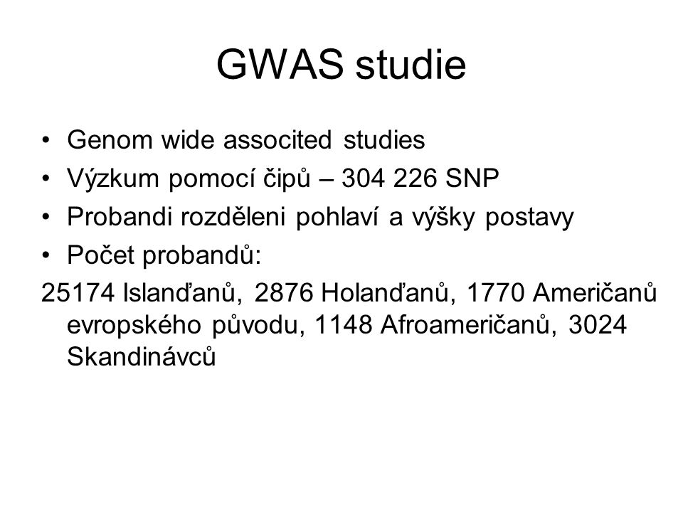 GWAS studie Genom wide associted studies