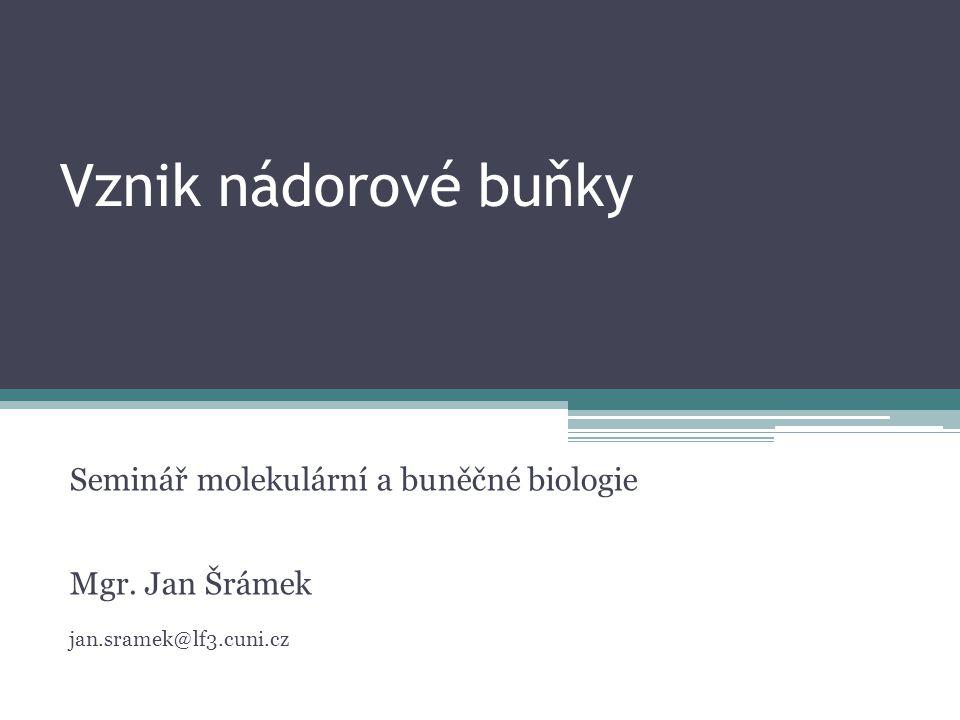 Vznik nádorové buňky Seminář molekulární a buněčné biologie
