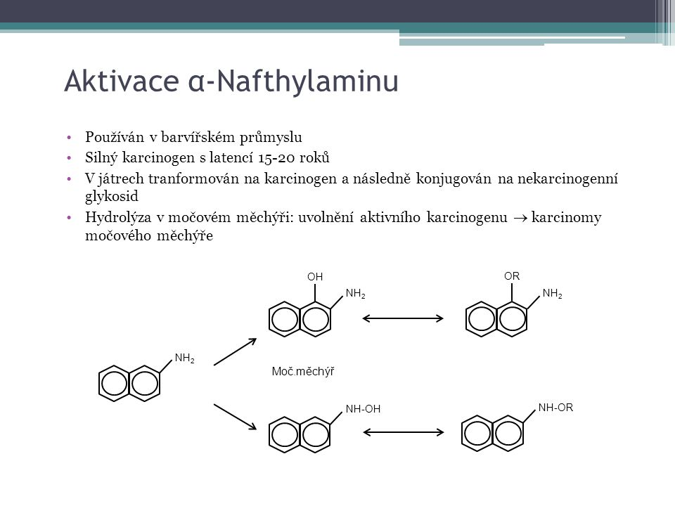 Aktivace α-Nafthylaminu